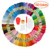 50/100/150 Colors Cross Stitch Cotton Embroidery Thread Floss Sewing Skeins
