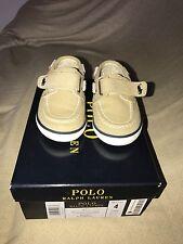 Toddler Polo Ralph Lauren Tan/Navy BlueBoat Shoes Size 4C