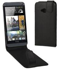 Pure Colour Flip Case Tasche schwarz für HTC One M7 Schutzcase Schutzhülle Cover