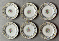 "Charles Ahrenfeldt Limoges 6.25"" Bread and Butter Plates – Set of 6, France Made"