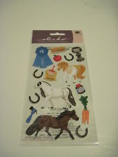 Scrapbooking Stickers Sticko Crafts Pony Show Ponies Ribbon Carrots Horse Shoes