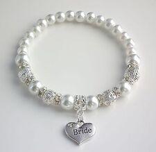 Personalised Charm Bracelet Bridesmaid Bride Flower Girl Sister Wedding Gift Bag