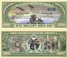 Veterans Of War Million Dollar Bill $1,000,000
