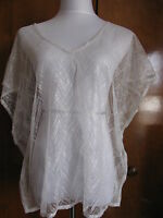 Armani Exchange women's couleur white shine and texture tulle top New