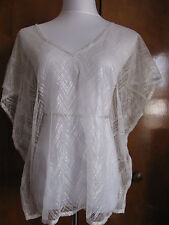 Armani Exchange women's couleur white shine and texture tulle top Size M L NWT