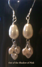 Pearls and Hearts Bridal Party Earrings made w/Swarovski - Free Shipping