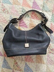 New Dooney & Bourke Navy Leather Handbag Purse