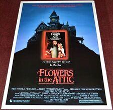 FLOWERS IN THE ATTIC 1987 ORIGINAL 27x41 MOVIE POSTER! KRISTY SWANSON HORROR!