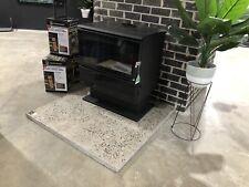 Polished Concrete Fireplace Hearth