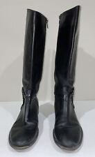 Tory Burch Women 10M Black Tall Riding Boots