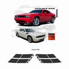 Dodge Challenger RT 2010 up Fender Double Bar Stripes Graphic Kit - Carbon Fiber