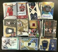 LOT OF NEW OLD FOOTBALL CARDS JERSEY AUTOGRAPH MEMORABILIA CARDS - LIQUIDATION