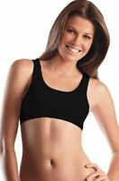 Jockey Non Wire  Cotton Knitted Sport Bra Style#1582 Black