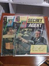 Lot of Secret Agent #1  & #2  1966  John Drake. Gold Key