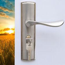Modern European Style Indoor Dual Latch Room Door Panel Safety Lock Handle