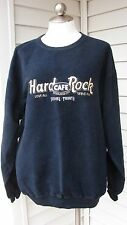 Hard Rock Cafe Toronto Skydome Sweatshirt Navy Blue & Yellow Embroidered M Baggy