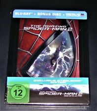 THE AMAZING SPIDER MAN 2 RISE OF ELECTRO STEELBOOK DOPPEL BLU RAY  NEU & OVP