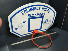 "Columbus North Bulldogs Basketball Goal 36""x 24"" Man Cave Sports Decor Vintage"