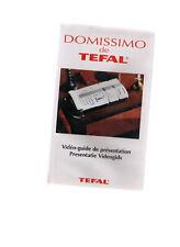 Domissimo de TEFAL - Vidéo-guide / Videogids  Cassette video VHS - NEW