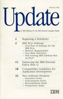 "ITHistory (1984) Brochure: IBM ""Update On  IBM software for the IBM PC Family"" *"