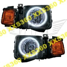 ORACLE Halo 2x HEADLIGHTS Hummer H3 06-10 WHITE LED Angel Demon Eyes