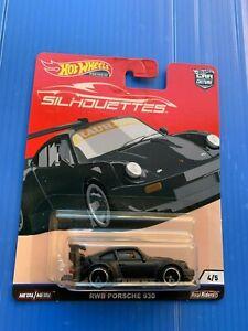 Hot Wheels RWB Porsche 930 Riders Black Premium Silhouettes Damage Card