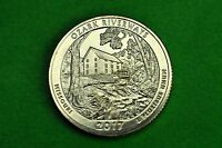 2017- P  BU  Mint State ( Ozark Riverways)US National Park Quarter