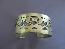 Taxco Eagle 3 Mexico 58.7g [1593] Sterling Silver Aca Cuff Bracelet with Ducks