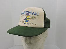 9e81b6f4ddd Bartman Mesh Trucker Hat Cap One Size Green White Avenger of Evil Snapback  1990
