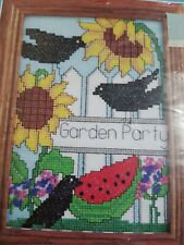 Crow Garden Party Cross stitch Kit 5 x 7 by Candamar Designs