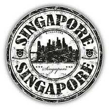 "Singapore Grunge Travel Stamp Car Bumper Sticker Decal 5"" x 5"""