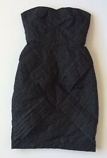 Jean Paul Gaultier For Target Sz 1 Dress Black Back Zip Sleeveless Sheath