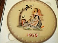 """1978 Annual M. I. Hummel Plate in base relief """"Happy Past Time"""" by Goebel"""