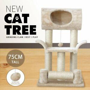 75cm Cat Tree Scratching Post Scratcher Tower Condo Pet Cat House Furniture AU