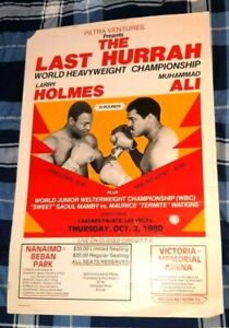 MUHAMMED ALI LARRY HOLMES THE LAST HURRAH JUNE 6TH, 1980 CANADIAN PAY PER VIEW P