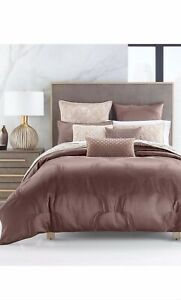 Hotel Collection Contuor Duvet Cover Full/Queen Color Brown $335
