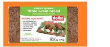 DELBA Three Grain BREAD - 17.6 Oz -3 PACKS  EXP DATE 12/19,02 & 04/2020