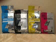 Original Canon Ink Cartridges - BJI-643BK-BJI-643C-BJI-643Y-BJI-643M - SEALED