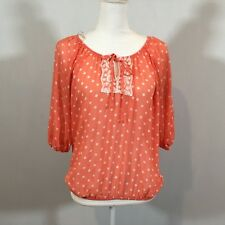 No Boundaries Women Juniors Blouse Top Size Medium (7-9) Shirt 3/4 Sleeve C112
