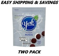 York Chocolate Peppermint Unwrapped Minis 8 oz Two Pack Per Order Easy Shipping