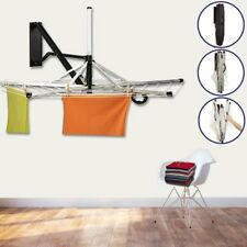 HEAVY DUTY 5 ARM 30M WALL MOUNTED ALUMINUM FOLDING WALL FIX CLOTHES AIRER INDOOR