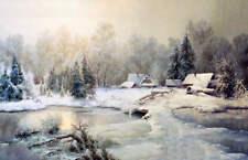 Home Stream in Winter by Vladimir Leonidovich MURAWJOFF