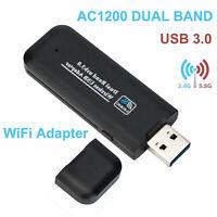 1200 Mbps USB Wireless WiFi LAN Netzwerk Empfänger Kartenadapter für Desktop PC