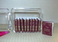 Miniature Charles Dickens Collection, 10 Volumes: DOLLHOUSE Books 1:12 Scale