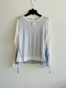NWT Club monaco Linen White Sweater Xsmall