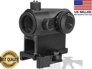 T1 MICRO Red/Green Dot Reflex Scope Sight Optic Hunting AIRSOFT QDRiser 20mmRail