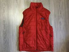 Mens Patagonia Red Primaloft Vest Size Small
