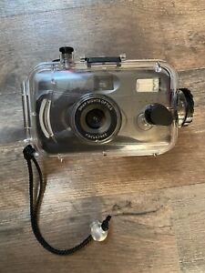 Snap Sights 35mm Film Camera + Underwater Waterproof Case to 100ft/30meters Used