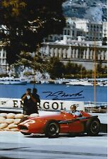 Tony Brooks Hand Signed Ferrari F1 12x8 Photo 1.