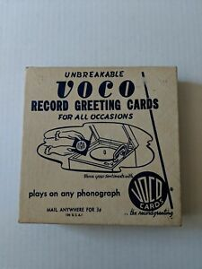 Unbreakable Voco Record Greeting Cards For All Occasions 12 in Original Box